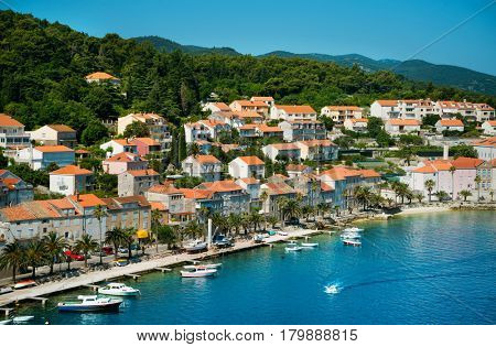 Beautiful seascape of Croatia. Traveling, yachting, vacation concept.