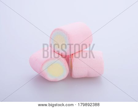 Marshmallows Or Marshmallows Candy On The Background.