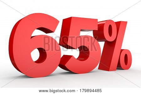 Sixty Five Percent Off. Discount 65 %.
