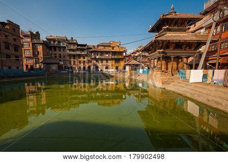 view of the Bhaktapur city before earthquake Nepal