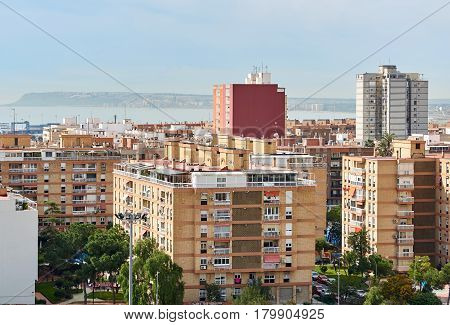 High-rise buildings of Alicante city. Costa Blanca. Spain