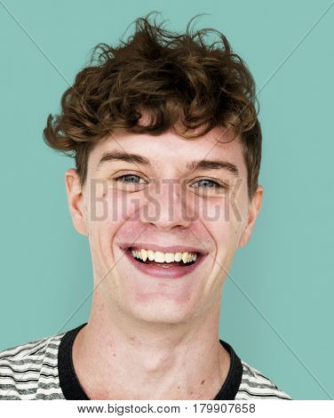 Man smiling casual studio portrait