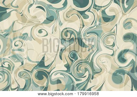 Marbled paper turquoise craft product, texture for wallpaper or packaging design. Abstract backdrop