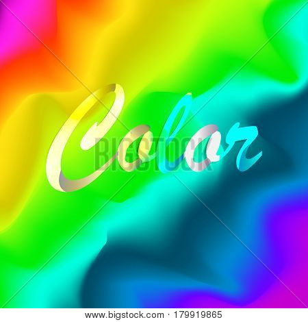 Multicolored Vector Background. Good For Banner, Poster, Brochure Spectrum Colors