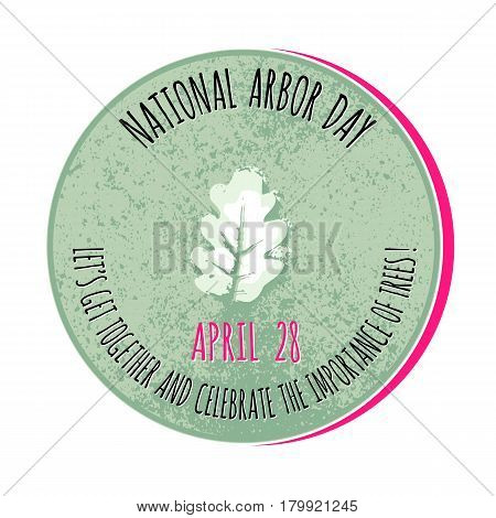 Arbor Day icon. Vector illustration for  promotion, greeting card and poster.
