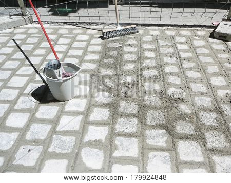 Wet Cement Grouting