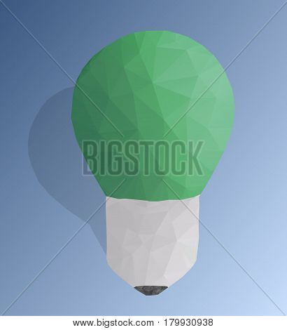 Creative poly light bulb. Abstract and modern polygonal design.