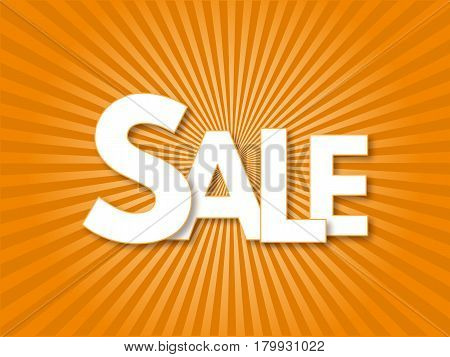 Advertising banner sale. Vector illustration. market, price