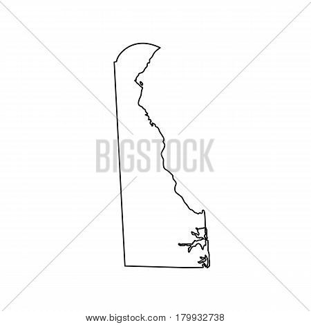 map of the U.S. state Delaware. Vector illustration