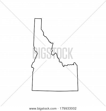 map of the U.S. state Idaho. Vector illustration