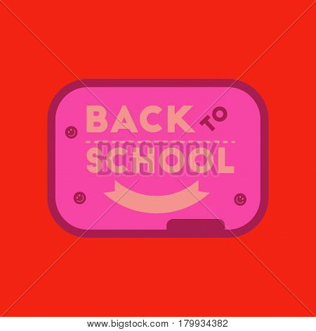 flat icon on stylish background Back to school board