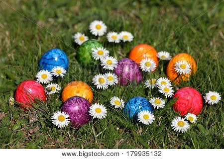 The Colorful Easter eggs of the Easter Celebration