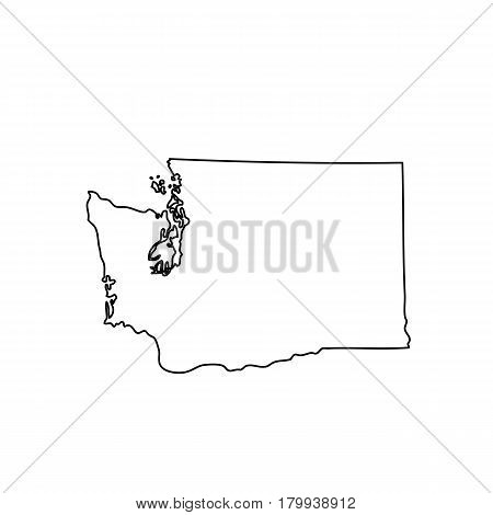 map of the U.S. state of Washington. Vector illustration