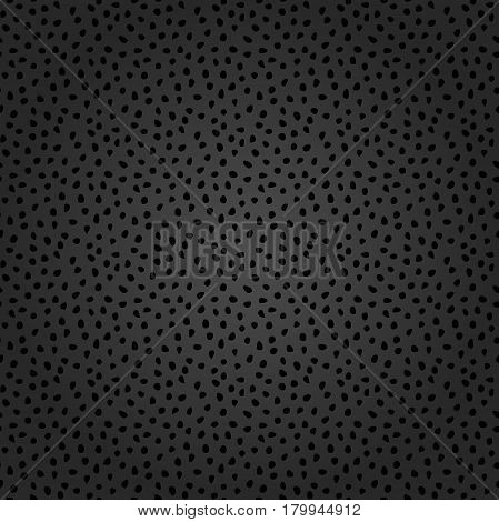 Seamless dark background with random elements. Tileable ornament. Dotted abstract background