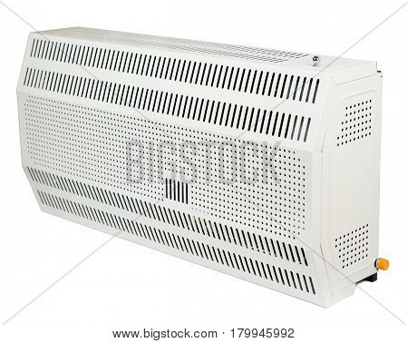 A residential electric heater isolated on white