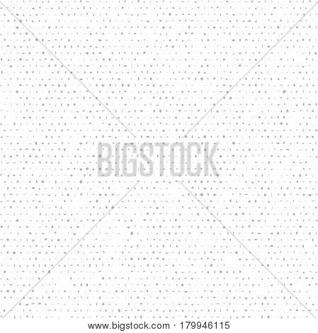Seamless background with gray random elements. Tileable ornament. Dotted abstract background