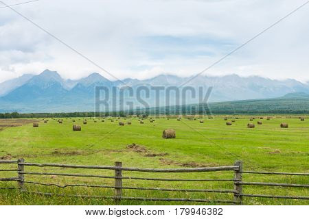 High Mountains With Snowy Peaks,