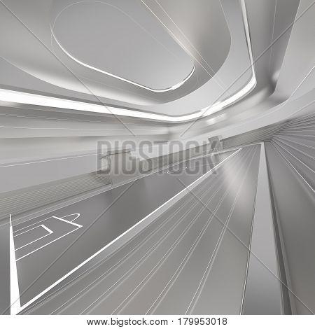 Gray abstarction background stadium sport 3d rendering