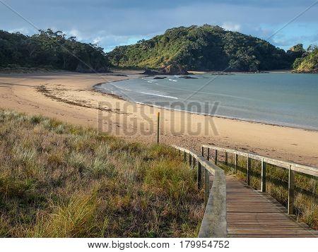 Pristine Beach At Matapouri Bay, New Zealand