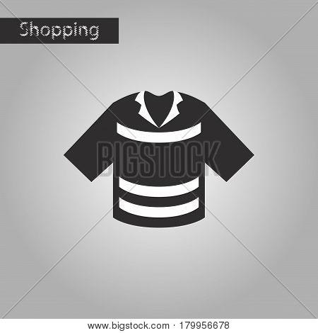 black and white style icon Polo shirt