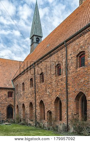 The church of Saint Mary in the old town of Helsingor in Denmark.