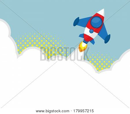 rocket launcher with halftone background vector illustration