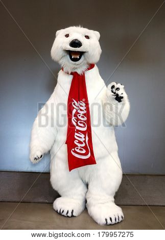 Polar Bear character at Everything Coca-Cola Store in Las Vegas, NV, USA on March 30, 2017.