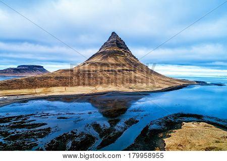 Mount Kirkjufell in the Snaefellsnes peninsula near Grundarfjordur Iceland poster