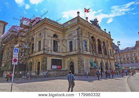 COPENHAGEN DENMARK - JUNE 15: Building of Kongelige Theater located at Copenhagen Denmark in 2012