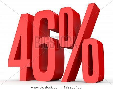 Forty Six Percent Off. Discount 46 %.