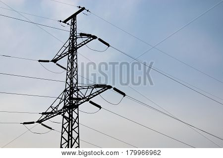 High voltage post or High voltage tower.