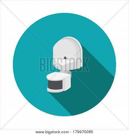 Vector image of the motion sensor on a round basis
