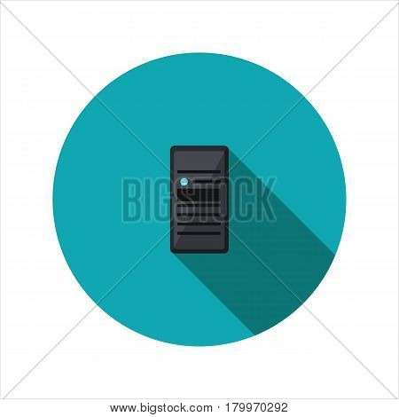 Vector image proximity card reader on a round basis