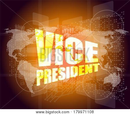 Vice President, Internet Marketing, Business Digital Touch Screen Interface