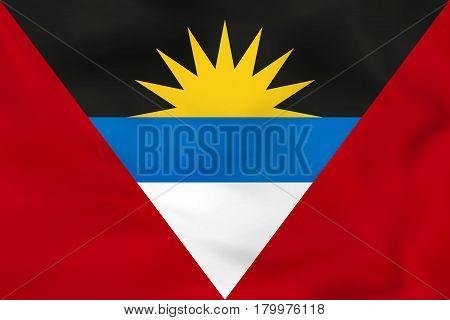 Antigua And Barbuda Waving Flag. Antigua And Barbuda National Flag Background Texture.