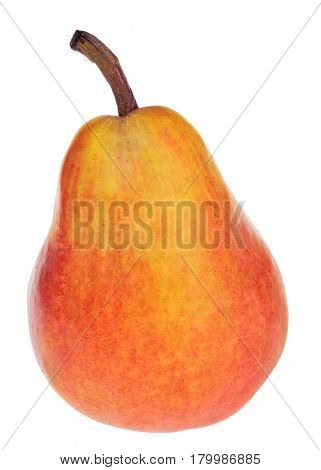 red bartlett pear isolated on white background