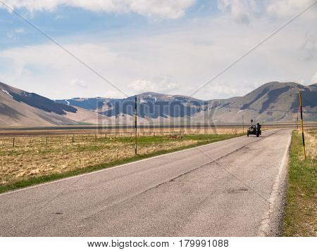 Motorcyclists On The Road