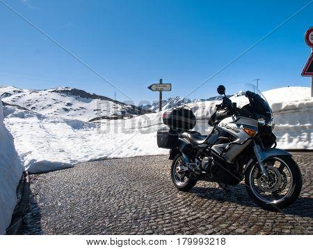Gotthardpass, Beautiful Sunny Spring Day