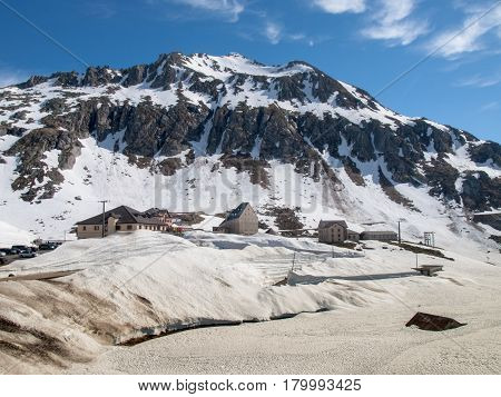 Gotthardpass, View Of The Village