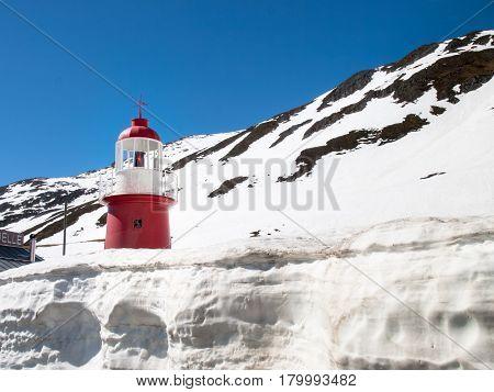 Lighthouse Oberalppass.