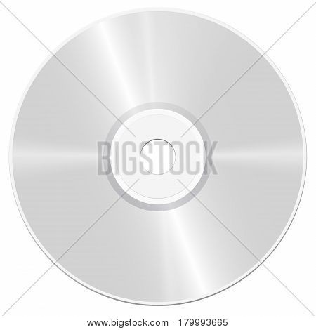 CD - compact disc - realistic isolated vector illustration on white background.