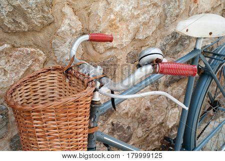 Vintage bike in Valldemossa on Mallorca island