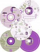Vector CD Labels (Graphic Set of 5) poster