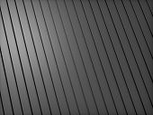 Abstract black metallic industrial background with lines poster
