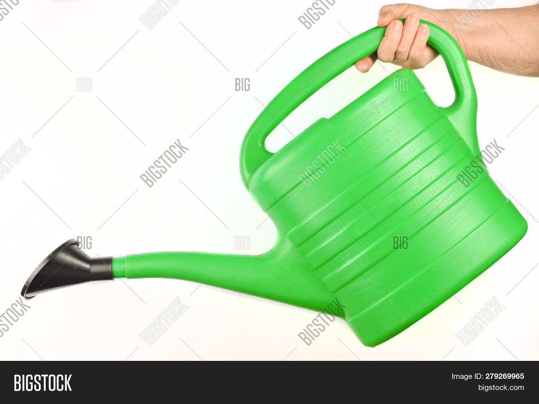 Plastic Green Watering Image Photo