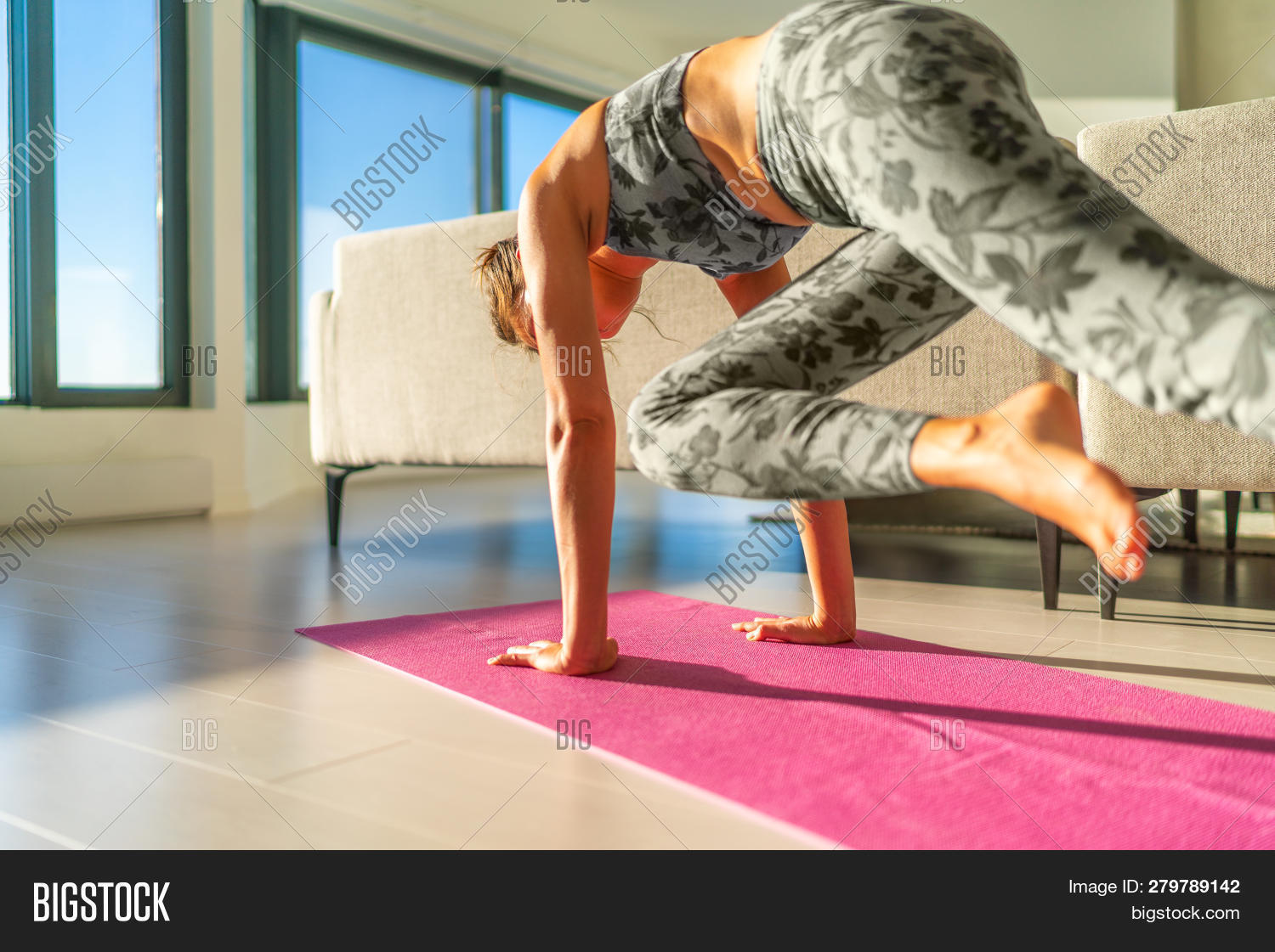 Home Fitness Woman Image Photo Free