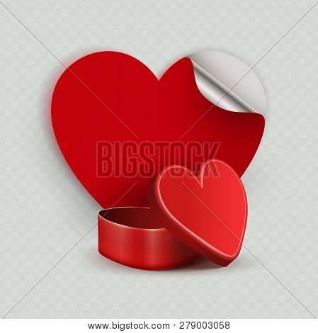 Composition With A Red Casket And A Silhouette Of The Heart,