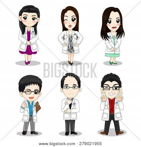 Set Of Doctor Character Concept