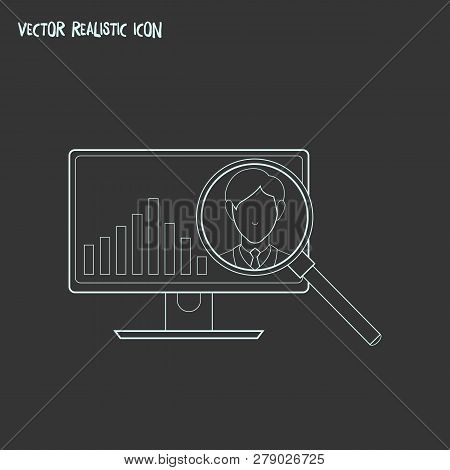 Competitor analysis icon line element. Vector illustration of competitor analysis icon line isolated on clean background for your web mobile app logo design. poster