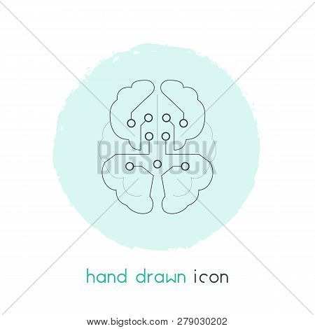 Artificial Intelligence Icon Line Element.  Illustration Of Artificial Intelligence Icon Line Isolat